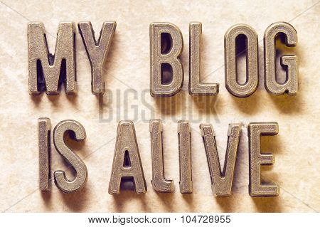 My Blog Is Alive M