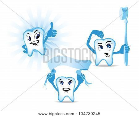 Blue Teeth Mascots