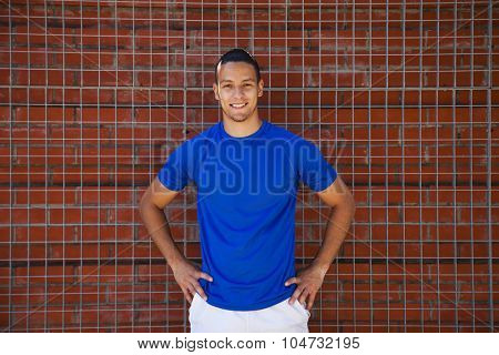 Sporty young man posing