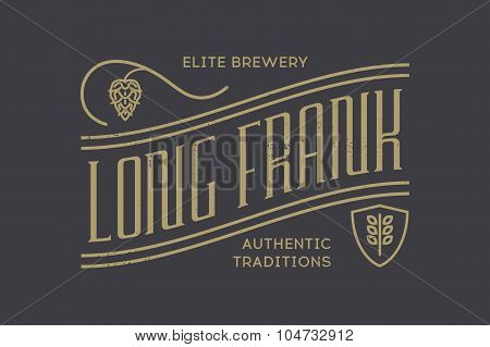 vintage beer  logo. Vector illustration