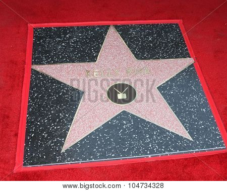 LOS ANGELES - OCT 12:  Kelly Ripa's Star at the Kelly Ripa Hollywood Walk of Fame Ceremony at the Hollywood Walk of Fame on October 12, 2015 in Los Angeles, CA