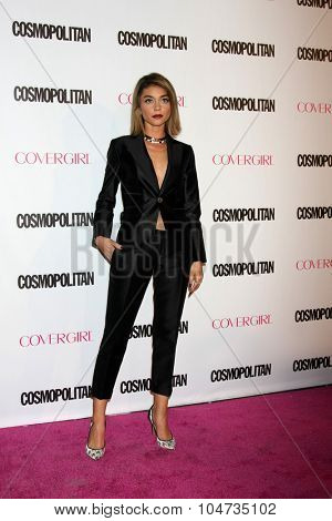 LOS ANGELES - OCT 12:  Sarah Hyland at the Cosmopolitan Magazine's 50th Anniversary Party at the Ysabel on October 12, 2015 in Los Angeles, CA