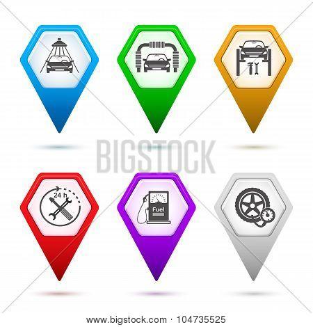 Set-icons-car-repair-service-car-wash-sign-pointer