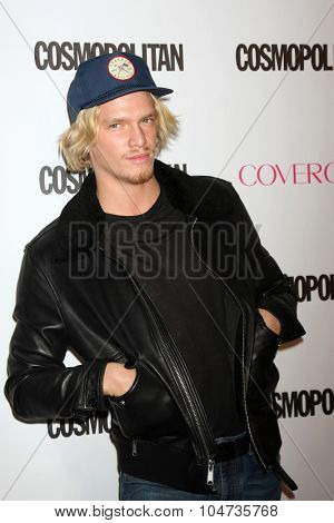 LOS ANGELES - OCT 12:  Cody Simpson at the Cosmopolitan Magazine's 50th Anniversary Party at the Ysabel on October 12, 2015 in Los Angeles, CA