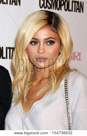 LOS ANGELES - OCT 12:  Kylie Jenner at the Cosmopolitan Magazine's 50th Anniversary Party at the Ysabel on October 12, 2015 in Los Angeles, CA