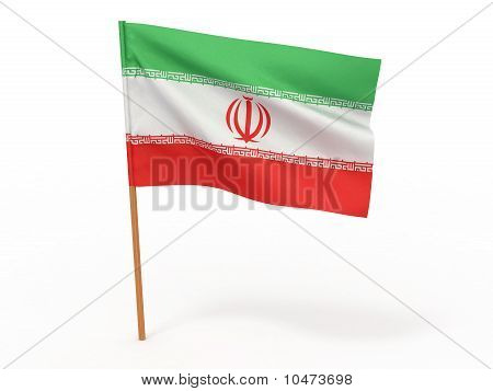 Flag Of Iran. 3D