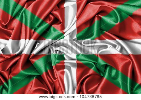 Satin Flag - Flag Of Basque Country