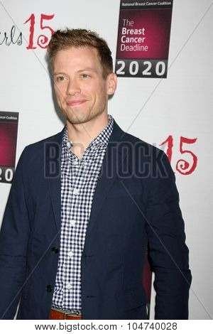 LOS ANGELES - OCT 11:  Barrett Foa at the Les Girls 15 at the Avalon Hollywood on October 11, 2015 in Los Angeles, CA