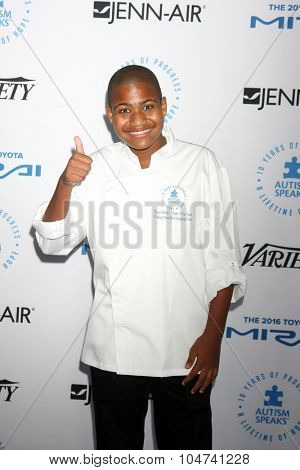 LOS ANGELES - OCT 8:  Chase Bailey at the Autism Speaks Celebrity Chef Gala at the Barker Hanger on October 8, 2015 in Santa Monica, CA