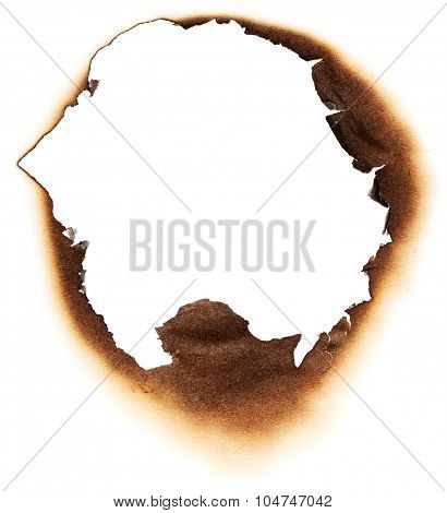 Burnt Hole In White Paper
