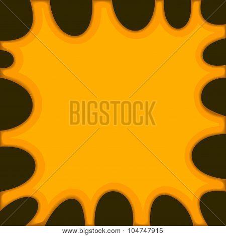 Orange Slime Background on Dark. Vector