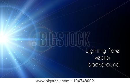 Electric star flash. Abstract lighting flare vector background