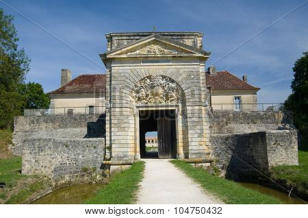 Fort Medoc, France - September 9, 2015: Fort Medoc (built By Vauban), Gironde, Aquitane, France On S