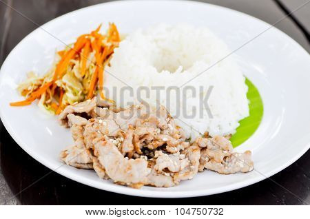 Korean Pork Rice,fried Pork With Rice,pork With Rice