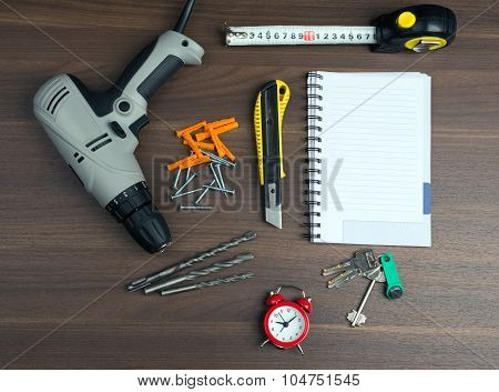 Drill with money and cutter