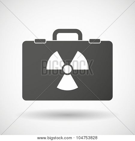 Isolated Briefcase Icon With A Radio Activity Sign