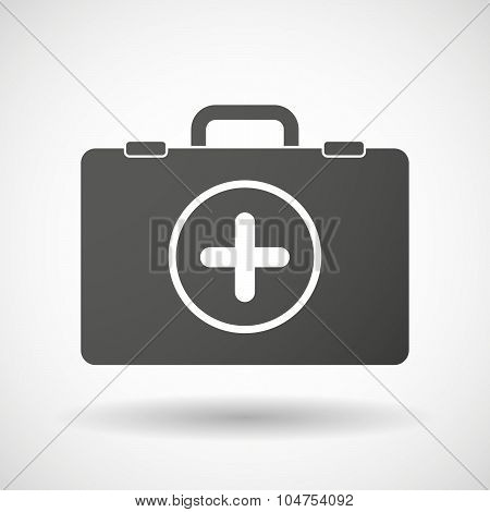 Isolated Briefcase Icon With A Sum Sign