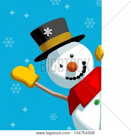 Snowman Greeting Message