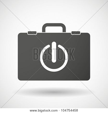 Isolated Briefcase Icon With An Off Button