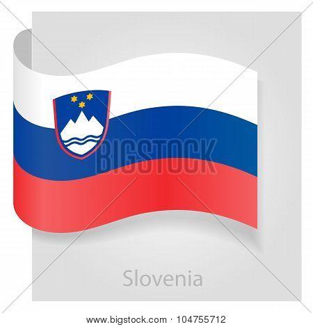 Slovenian flag, vector illustration