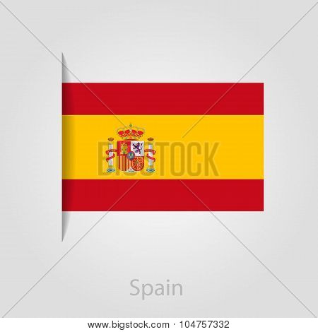 Spanish flag, vector illustration