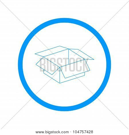 Box Vector Illustration. Flat Design Style