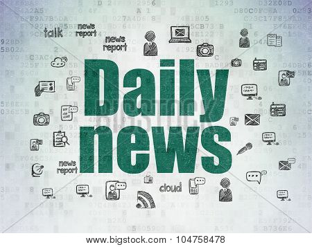 News concept: Daily News on Digital Paper background