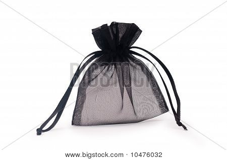 Closeup Shot Of Black Gift Sac