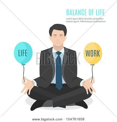 Businessman meditating.