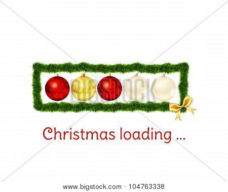 Christmas loading bar on white background.