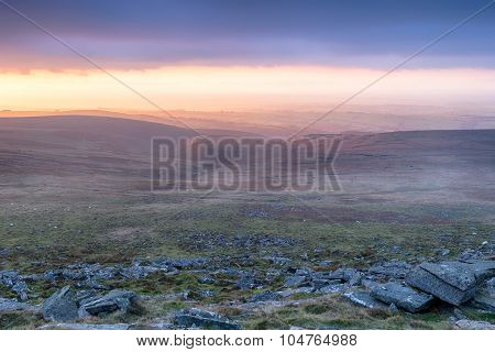 Stormy Sunset Over Dartmoor