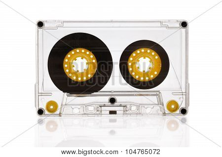 Audio Cassette Isolated On The White Background