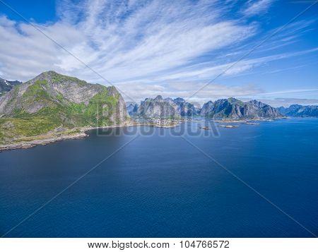 Picturesque Coastline On Lofoten