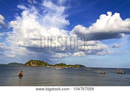 Island With White Cloud