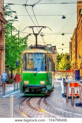 Tram In The City Centre Of Helsinki - Finland