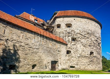 Fat Margaret, A Fortress Tower In Tallinn, Estonia