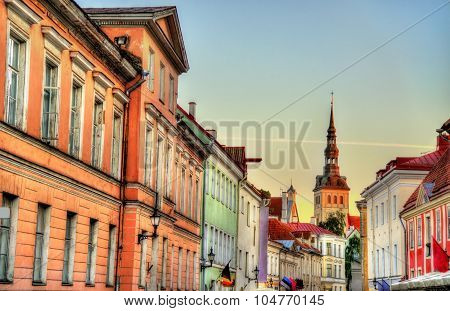 Buildings In The Historic Centre Of Tallinn, Estonia