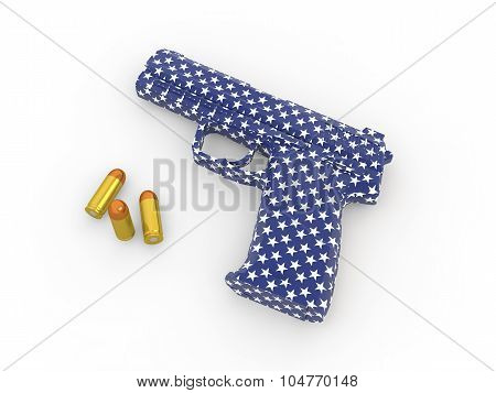 3d american gun concept