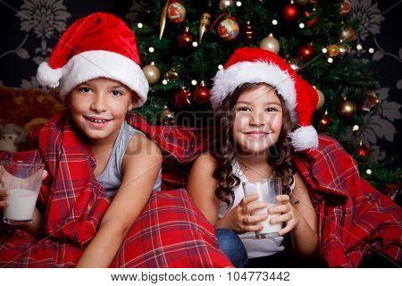 Sweet Children Drinking Milk