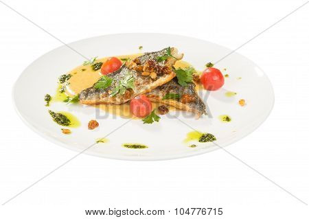 Grilled Fish with tomato and Mixed Salad