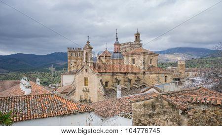 Royal Monastery of Santa Maria de Guadalupe, cloudy sky