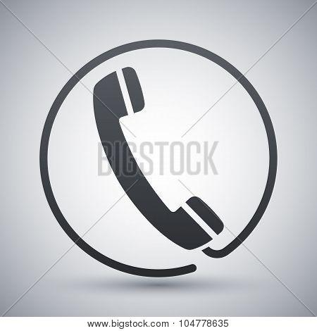 Vector Telephone Receiver Icon