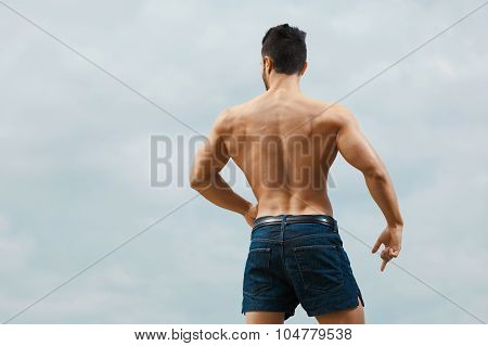 Muscular naked man