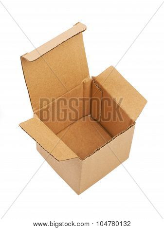 Open Carton Box Isolated