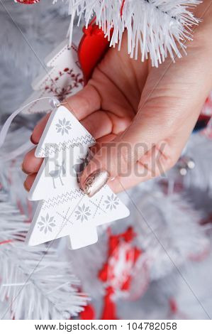 Closeup Of A Christmas Tree Ornament