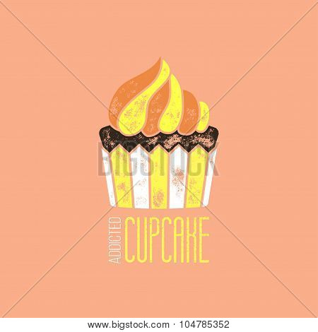 Cupcake Addicted Vector T-shirt Design