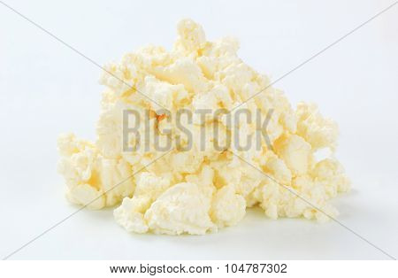 heap of creamy curd cheese