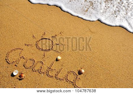 Croatia Sign On The Beach