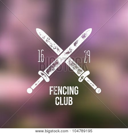 Fencing Club T -shirt Logo Design - Vector Illustration
