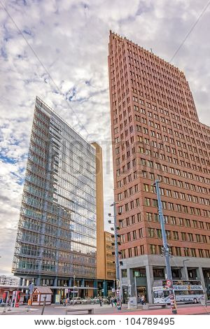 Potsdamer Platz, Financial District Of Berlin, Germany.